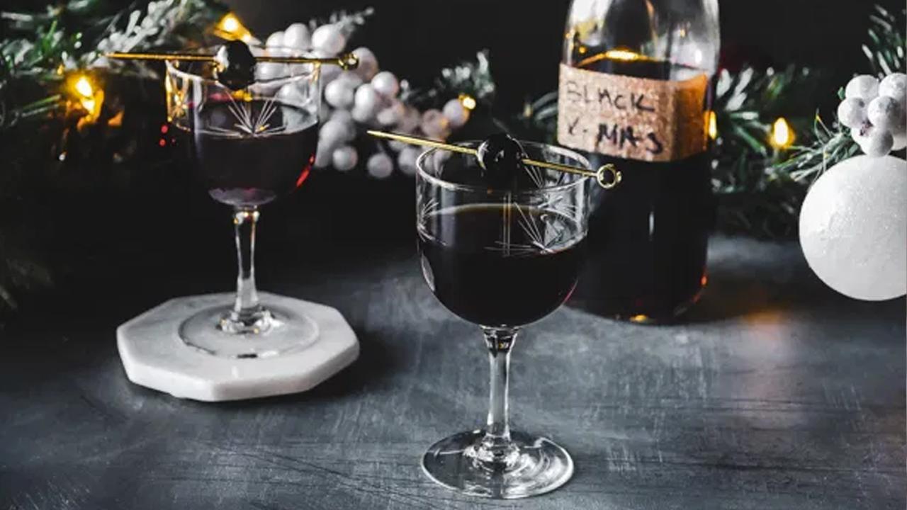black christmas cocktail